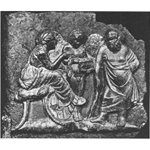 Bronze relief from Pompeii