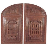 Handcarved Round Top Garage Door - GARDR124