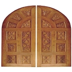 Solid Wood Handcarved Customized Garage Door -122