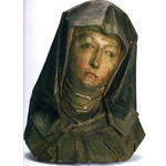 The head of St Anne, Tilman Riemenschneider