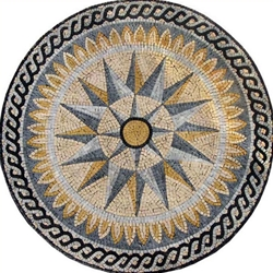 Marble Mosaic Medallion - MM049