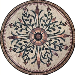 Marble Mosaic Medallion - MM069A