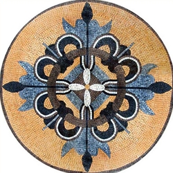 Marble Mosaic Medallion - MM098