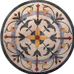 Marble Mosaic Medallion - MM123