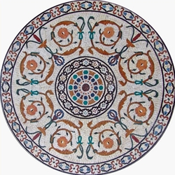 Marble Mosaic Medallion - MM157