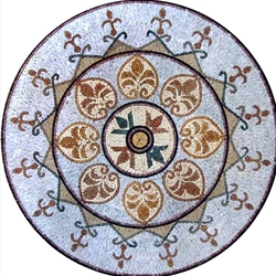 Marble Mosaic Medallion - MM219