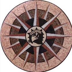 Marble Mosaic Medallion - MM229