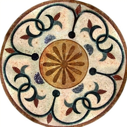 Marble Mosaic Medallion - MM280