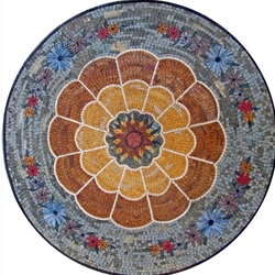 Marble Mosaic Medallion - MM285