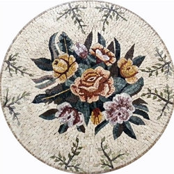 Marble Mosaic Medallion - MM309
