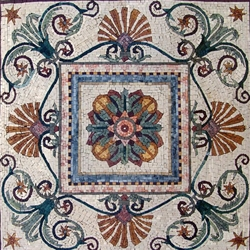 Marble Mosaic Geometric Design - MG194