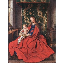 Madonna with the Child Reading 1433 Jan Van Eyck