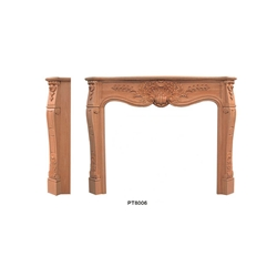 Hand carved wood fireplace-200922414281064122