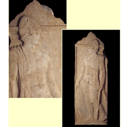 Funeral stele from Pella
