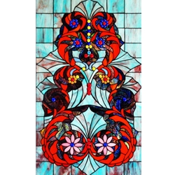 Stained window glass panel LTSP34-20∕05