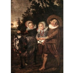 Three Children with a Goat Cart, Frans hals, c. 1620