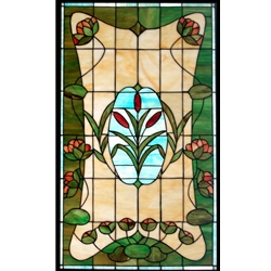 Stained window glass panel LTSP34-20∕12