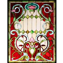 Stained window glass panel LTSP48-36∕18