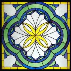 Stained window glass panel LTSP24-24∕25