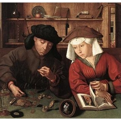 The Moneylender and His Wife, 1514, Quentin Massys