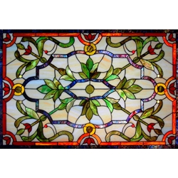 Stained window glass panel LTSP25-39∕36B