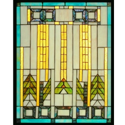 Stained window glass panel LTSP24-19∕41