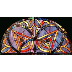 Stained window glass panel LTSP19R-39∕48