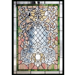 Stained window glass panel LTSPB36-24∕51