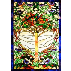 Stained window glass panel LTSP40-28∕52