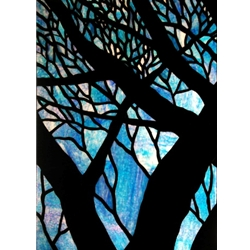 Stained window glass panel LTSP39-29∕53