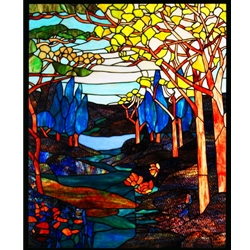 Stained window glass panel LTSP39-31∕54