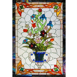 Stained window glass panel LTSP37-25∕60