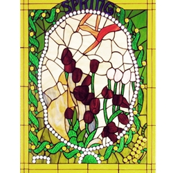 Stained window glass panel LTSP30-23∕61