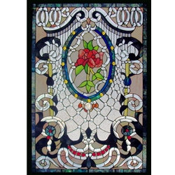 Stained window glass panel LTSPB38-26∕62