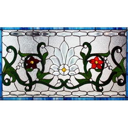 Stained window glass panel LTSPB18-32∕79