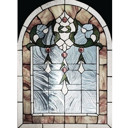 Stained window glass panel LTSP30-22R∕97