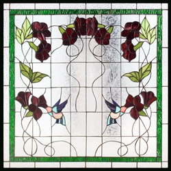 Stained window glass panel LTSP28-28∕117