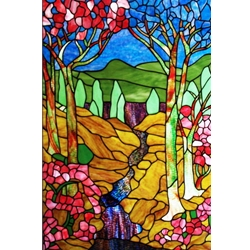 Stained window glass panel LTSP35-23∕124