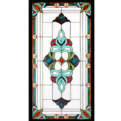 Stained window glass panel LTSP39-19∕128
