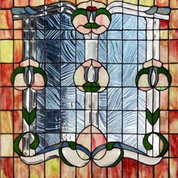 Stained window glass panel LTSPB24-24∕132