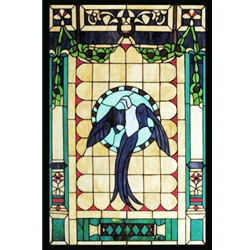 Stained window glass panel LTSP36-23∕153