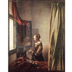 Girl Reading a Letter at an Open Window, 1657, Johannes Vermeer