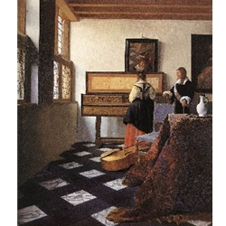 A Lady at the Virginals with a Gentleman, 1662-65, Jan Vermeer