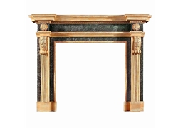 Hand-carved Marble Fireplace Mantel Wood