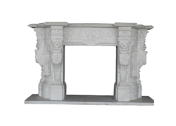 Hand-carved Marble Fireplace Mantel - LF0043