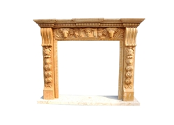 Hand-carved Marble Fireplace Mantel - LF0082