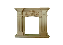 Hand-carved Marble Fireplace Mantel - LF0085