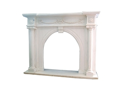 Hand-carved Marble Fireplace Mantel - LF0087