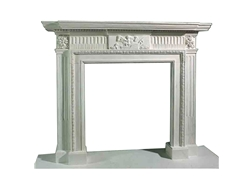 Hand-carved Marble Fireplace Mantel - LF0098