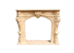 Hand-carved Marble Fireplace Mantel- LF0111